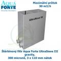 Ultra Sieve III Standard se 3 vstupy 110mm, štěrbinový filtr Aqua Forte UltraSieve III gravity, 300 micronů, 3 x 110 mm nátok