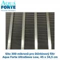 Síto 300 mikronů pro štěrbinový filtr Aqua Forte UltraSieve Low, 45 x 34,5 cm
