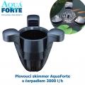 Plovoucí skimmer AquaForte s čerpadlem 3000 l/h