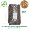 Basic Fish-Koi Mix 15 kg, od 12°C, granule 6 mm, pro koi a okrasné ryby, jaro-podzim