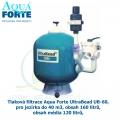 Tlaková filtrace Aqua Forte UltraBead UB-60, pro jezírka do 40 m3, obsah 160 litrů, obsah média 120 litrů,