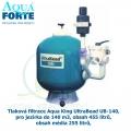 Tlaková filtrace Aqua Forte UltraBead UB-140, pro jezírka do 140 m3, obsah 455 litrů, obsah média 255 litrů,