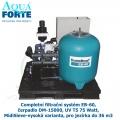 Completní filtrační systém EB-60, čerpadlo DM-15000, UV T5 75 Watt, MidiSieve-vysoká varianta, pro jezírka do 36 m3