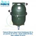 Tlaková filtrace Aqua Forte PolyGeyser DF-3, pro jezírka do 25 m3,  obsah média 85 litrů, max. průtok 15 m3/h