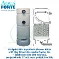 AquaForte Shower Filter se štěrbinovým sítem a 50 l filtračního média Crystal bio + štěrbinové síto 300 mikronů,  pro jezírka do 27 m3, max. průtok 9 m3/h,