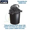 Tlaková filtrace Green Reset 100, včetně 2x25 Watt UV, pro jezírka do 35000 litrů, obsah 100 l, max. průtok 16000 litrů/hod.