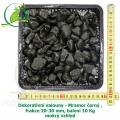 Dekorativní valouny - Mramor černý , frakce 20-30 mm, balení 10 Kg