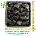 Dekorativní valouny - Mramor černý , frakce 30-50 mm, balení 10 Kg