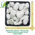 Dekorativní valouny - Mramor býlý, frakce 30-50 mm, balení 10 Kg