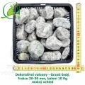 Dekorativní valouny - Granit šedý, frakce 30-50 mm, balení 10 Kg