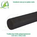 Trubka bez hrdla polypropylenová 110x103,2mm, černá