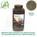 Spirulina 5 litrů, granule 6 mm, plovoucí krmivo, pro výraznější zbarvení koi a okrasné druhy ryb