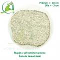 Šlapák z přírodního kamene - Žula do tmavě šedé , průměr 40cm, síla 3 cm