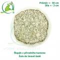 Šlapák z přírodního kamene - Žula do tmavě šedé , průměr 30cm, síla 3 cm