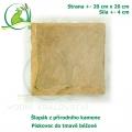 Šlapák z přírodního kamene - Pískovec do tmavě béžové, 20x20cm, síla 4 cm