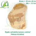 Šlapák z přírodního kamene ,Ledvina-009,- Pískovec do béžové, 55x45cm, síla 3-5cm
