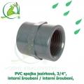 PVC spojka jezírková 3/4, interní šroubení / interní šroubení