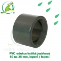 PVC redukce krátká jezírková 50 na 25 mm, lepení / lepení