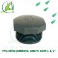 PVC zátka jezírková, externí závit 1 1/2