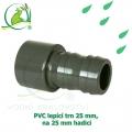 PVC lepící trn 25 mm, na 25 mm hadici