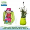 Dekorativní venkovní závěsný košík, světle zelený, velikost M 24cm, obsah 3l - Velda Water Bag Lime M