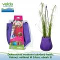 Dekorativní venkovní závěsný košík, fialový, velikost M 24cm, obsah 3l - Velda Water Bag Purple M