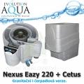 Evolution Aqua Nexus Eazy 220 + mechanický předfiltr Cetus, filtrace pro koi jezírka a chovy ryb do 18 m3, pro okrasná a biotopy do 150 m3, četně 18 l K1 Micro a 50 l K1