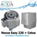 Evolution Aqua Nexus Eazy 320 + mechanický předfiltr Cetus, filtrace pro koi jezírka a chovy ryb do 18 m3, pro okrasná a biotopy do 150 m3, četně 18 l K1 Micro a 50 l K1