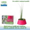 Dekorativní košík pro rostliny, růžový, průměr 30cm, obsah 9l - Velda Colour Pond Mini Pink
