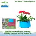Dekorativní košík pro rostliny, modrý, průměr 30cm, obsah 9l - Velda Colour Pond Mini Aqua
