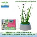 Dekorativní košík pro rostliny, šedo-modrý, průměr 30cm, obsah 9l - Velda Colour Pond Mini Grey-Aqua