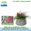 Dekorativní košík pro rostliny, šedo-žlutý, průměr 30cm, obsah 9l - Velda Colour Pond Mini Grey-Lime