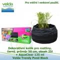 Dekorativní mini jezírko pro rostliny a rybky, černá, průměr 50cm, obsah 25l + AquaClear 125 ml - Velda Trendy Pond Black