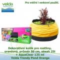 Dekorativní mini jezírko pro rostliny a rybky, oranžová, průměr 50cm, obsah 25l + AquaClear 125 ml - Velda Trendy Pond Orange
