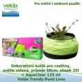 Dekorativní mini jezírko pro rostliny a rybky, světle zelená, průměr 50cm, obsah 25l + AquaClear 125 ml - Velda Trendy Pond Lime