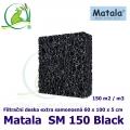 Matala deska SM150, 60x100x5cm, černá samonosná, pevná