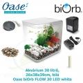 Akvárium Biorb Flow, bílé, 30 l, Oase biOrb FLOW 30 LED white, 26 x 38 x 39 cm