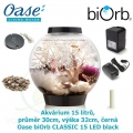Oase biOrb CLASSIC 15 LED black - Akvárium 15 litrů, průměr 30cm, výška 32cm, černá, Biorb Baby Moonlight černé 15 l