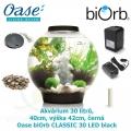 Oase biOrb CLASSIC 30 LED black - Akvárium 30 litrů, průměr 40cm, výška 42cm, černá