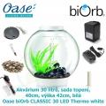 Oase biOrb CLASSIC 30 LED Thermo white - Akvárium 30 litrů, průměr 40cm, výška 42cm, bílá, sada topení