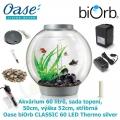 Oase biOrb CLASSIC 60 LED Thermo silver - Akvárium 60 litrů, průměr 50cm, výška 52cm, stříbrná