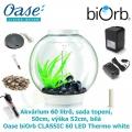 Oase biOrb CLASSIC 60 LED Thermo white - Akvárium 60 litrů, průměr 50cm, výška 52cm, bílá