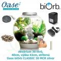 Oase biOrb CLASSIC 30 MCR silver - Akvárium 30 litrů, průměr 40cm, výška 42cm, stříbrná