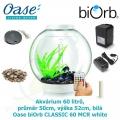 Oase biOrb CLASSIC 60 MCR white - Akvárium 60 litrů, průměr 50cm, výška 52cm, bílá