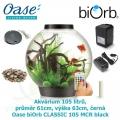 Oase biOrb CLASSIC 105 MCR black - Akvárium 105 litrů, průměr 61cm, výška 63cm, černá