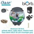 Oase biOrb HALO 30 LED moonlight grey - Akvárium 30 litrů, průměr 40cm, výška 46cm, měsíční šedá