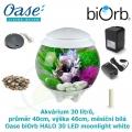 Oase biOrb HALO 30 LED moonlight white - Akvárium 30 litrů, průměr 40cm, výška 46cm, měsíční bílá