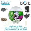 Oase biOrb HALO 30 LED white - Akvárium 30 litrů, průměr 40cm, výška 46cm, bílá