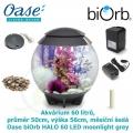 Oase biOrb HALO 60 LED moonlight grey - Akvárium 60 litrů, průměr 50cm, výška 56cm, měsíční šedá