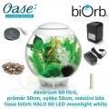 Oase biOrb HALO 60 LED moonlight white - Akvárium 60 litrů, průměr 50cm, výška 56cm, měsíční bílá
